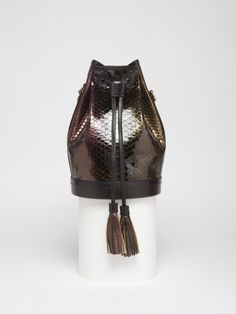 Bucket bag python glossy by FAUSTINE Paris MADE IN FRANCE #betosee #fashion #bag #Faustine Paris