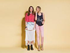 He elegido mi look favorito de CXN: denim falda con gauze fabric! $32.990
