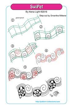SwiPet tangle pattern  by Alena Light  PatternCollections.com