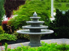 Gozo Four Tier Sphere Fountain is an Ideal feature for placing into the center of a garden or patio area. The feature is manufactured from premium quality cast stone, this features is a perfect centrepiece for any garden. #ukwaterfeatures #barnsley #outdoor #features #water #garden #decor #relaxing #outdoor #brown #massarelli #stone
