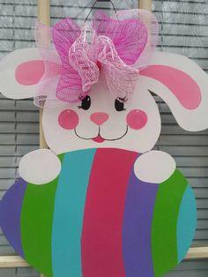 Easter door hanger easter door decor easter wreath by MoniLulis