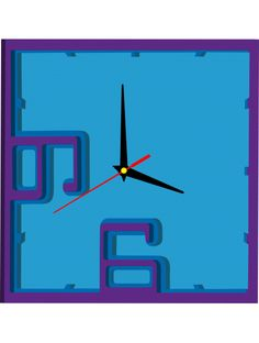 Plastic wall clock - PRATELL, color: purple, blue, light blue Reference:  X0003-RAL4005-RAL5002-RAL5015 Condition:  New product  Availability:  In Stock  Time to change! Decorating watches will revive every interior, highlight the charm and style of your space. Discover your living with new clocks. Plexiglass wall clocks are a wonderful decoration of your interior.