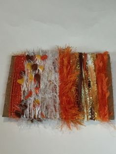 ice yarns SAMPLES fiber art bundle cards ORANGE by Yarniness