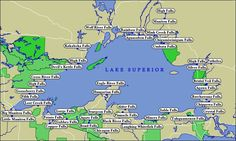 Map of Lake Superior WaterFalls