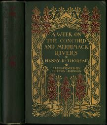 A week on the Concord and Merrimack rivers [binding] designed by Margaret Armstrong :: American Publishers Trade Bindings