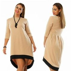 Fashion plus size women clothing 6xl winter dress O-neck solid Dress casual women loose dress big sizes vestido de festa
