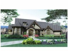 Eplans French Country House Plan - European Influence..Laid Back Living - 2595 Square Feet and 3 Bedrooms from Eplans - House Plan Code HWEP...