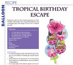 Tropical Birthday Escape — A balloon bouquet for your luau festivities.