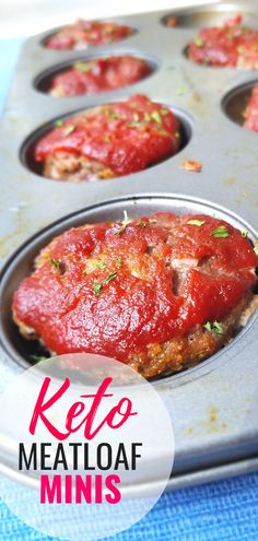The Best Keto Meatloaf Minis with Low Carb Ketchup — Megan Seelinger Women's W. - The Best Keto Meatloaf Minis with Low Carb Ketchup — Megan Seelinger Women's Weight loss & Nutr - Ketogenic Diet Meal Plan, Diet Meal Plans, Ketogenic Recipes, Diet Recipes, Dessert Recipes, Soup Recipes, Keto Recipes With Bacon, Breakfast Recipes, Keto Diet Plan