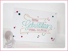 Stampin' Up! - Geburtstagskarte - Dein Tag! - www.rosamaedchen.blogspot.de