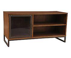 mobilier décoration table commode industriel indus  Meuble TV INDUSTRIEL mindi, chocolat - L110