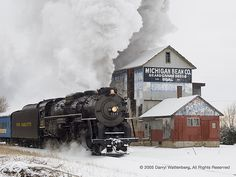 Pere Marquette 1225 Passes the Michigan Bean Company by DarrylW4, via Flickr
