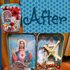 a-little-rae-of-sunshine: Looking for a way to reuse an old altoids tin? Make a travel prayer box. Mine contains 2 prayer cards, a Miraculous Medal, a Fatima Metal, a palm cross, a wooden decade rosary, an angel, and a 10 Commandments coin. I'm probably going to put a small candle inside too. I love this because you can take it anywhere and you'll always be prepared for devotion time no matter where you are.