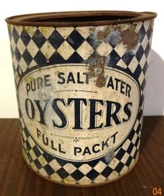 Antique 1 Gallon Oysters Can | eBay