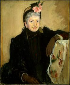 """""""Portrait of an Elderly Lady"""" by Mary Cassatt. 1887 oil on canvas. The sitter is believed to be Mary Cassatt's housekeeper, Mathilde Valet. In the collection of The National Gallery of Art, Washington, DC."""