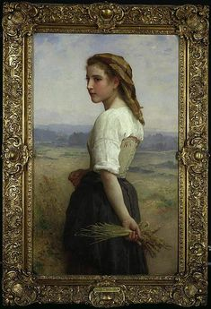 The Harvest Girl by William-Adolphe Bouguereau