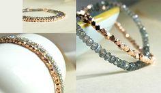 Labradorite and Rose Gold bracelets