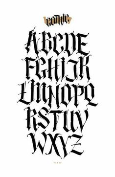 Gothic Lettering, Chicano Lettering, Graffiti Lettering Fonts, Creative Lettering, Lettering Design, Gothic Fonts, Graffiti Alphabet Styles, Graffiti Tattoo, Typography Fonts