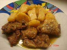 Χοιρινο λεμονατο ενα αγαπημενο και γνωστο πιατο σε ολους μας κ αυτο αγαπητο πιατο του γιου μας και του συζυγου ...     Τα υλικα γνωστα... Cookbook Recipes, Cooking Recipes, Greek Cooking, Meat, Chicken, Food, Traditional, Cooker Recipes, Chef Recipes