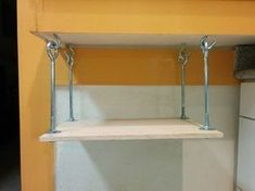 Hanging Microwave Shelf: 5 Steps (with Pictures) Microwave Under Cabinet, Microwave Wall Mount, Under Cabinet Shelf, Microwave Storage, Hanging Microwave, Hanging Cabinet, Diy Hanging Shelves, Microwave Stand, Diy Kitchen Shelves