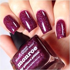 """""""Initiative: My piCture pOlish Marla aka @centralparkkitty wearing 'Monroe' WOW ❤️❤️thank you :) Gorgeous scatter holo Shoplink in bioor…"""""""