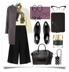 """""""60-Second Style: Tech Job Interview"""" by alaria ❤ liked on Polyvore featuring Jaeger, Chesca, MANGO, Kate Spade, Dune and Smith & Cult"""