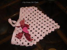 Bandanas Tejidas a Crochet o Paños para la Niñas y Jovencitas con Puntos Granny