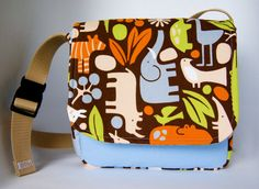 Zoo toddler messenger bag book bag tote by NaptownBoys on Etsy, $28.00