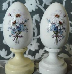 SALE 50% - easter eggs - decoupage - pysanky set of 2 eggs. $8.00, via Etsy. #easter #ideas