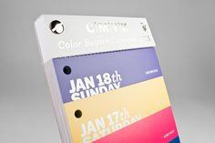 A CMYK Swatch Calendar That Comes With 317 Tear-Off Color Stripes For Each Day - DesignTAXI.com