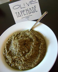 we like our olive tapenade to be chunkier than this, but the ingredients are all here.