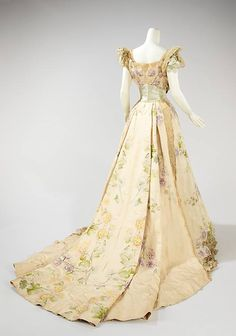 Art Nouveau - Robe du soir - Worth - 1902