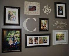 Mini Photo Wall with Uppercase Living vinyl. http://kcraig.uppercaseliving.net
