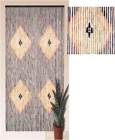 Cortina Puerta Madera 90x200 #cortinas #hogar