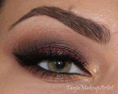 Autumn/Fall Eye - Maroon and gold - Tanja Loves Makeup