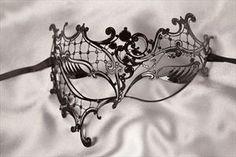 Filigree Metal Masquerade Mask - PHANTOM