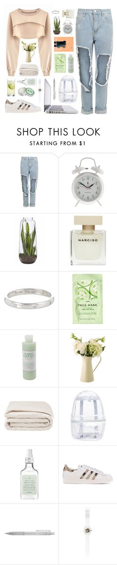 """""""Calm"""" by penitdown ❤ liked on Polyvore featuring VFiles, WearAll, J.Crew, Narciso Rodriguez, Sara Weinstock, H&M, Mario Badescu Skin Care, Frette, Topshop and Drybar"""