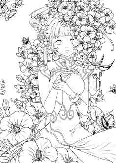 Anime Coloring Books for Adults - 21 Anime Coloring Books for Adults , Anime Girl Coloring Pages Coloringsuite People Coloring Pages, Fairy Coloring Pages, Coloring Pages To Print, Adult Coloring Pages, Coloring Books, Coloring Sheets, Colorful Drawings, Art Drawings, Anime Lineart