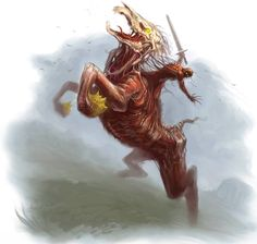 Nuckelavee (Scottish) - As probably the most disgusting and ugly of all fae, the Nuckelavee spread pollution, corruption and diseases. They are the knights of the Horseman of Pestilence.