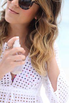 DIY Sea Salt Spray for Beachy Waves #theeverygirl #beauty #DIY #hair