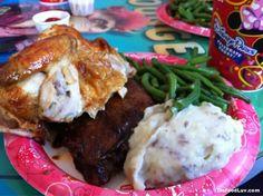 Cosmic Ray's Starlight Cafe- Chicken and Ribs Combo---In Tomorrowland, Magic Kingdom...Love Sunny Eclipse!