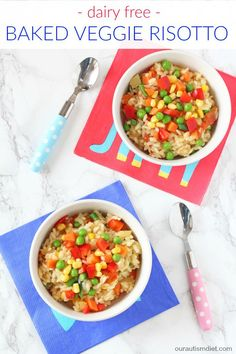 A delicious creamy vegetable packed baked risotto that's gluten and dairy free!   Our Autism Diet