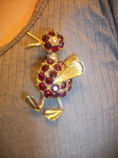 vintage duck brooch