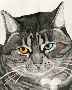 Cat Portrait  Instant Digital Download by Inklets on Etsy, $3.33