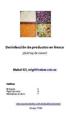 Desinfección de productos en fresco. Por, Mabel Gil; junio, 2012 (5 €)