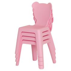 Crea Kids Activity Table with 4 Plastic Chairs Set - Pure White - Pink - South Shore, Pure White Pink