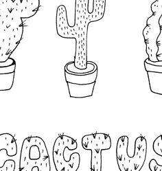 Un pedacito de Cactus, la ilustración que Hurra nos ofrece para colorear en https://chocolateillustration.com/ilustraciones/cactus/ #chocolateillustration #dibujosparapintar #colorear #yocoloreo #hurra #cactus #dibujosparacolorear