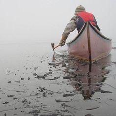 river ice breaker, canoe, elemental manliness