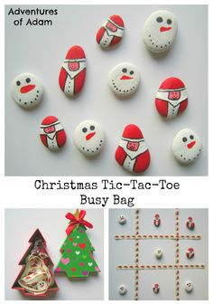 Tic-Tac-Toe, Naughts and Crosses, Xs and Os, Three In A Row - so many alternative names! I created our own DIY Christmas Tic-Tac-Toe to introduce the game to Adam. All Things Christmas, Kids Christmas, Handmade Christmas, Father Christmas, Primitive Christmas, Retro Christmas, Country Christmas, Christmas Christmas, Easy Diy Crafts