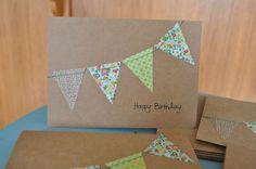 Happy Birthday banner cards set